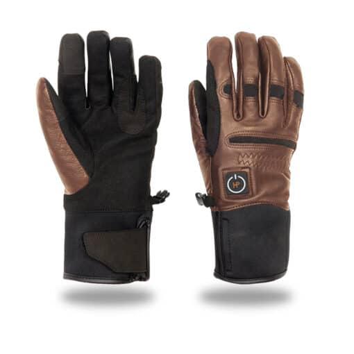 Verwarmde dames handschoenen - bruin
