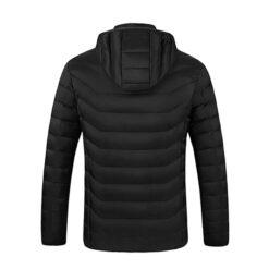 Verwarmde jas zwart achterkant