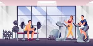 bewegen in de sportschool